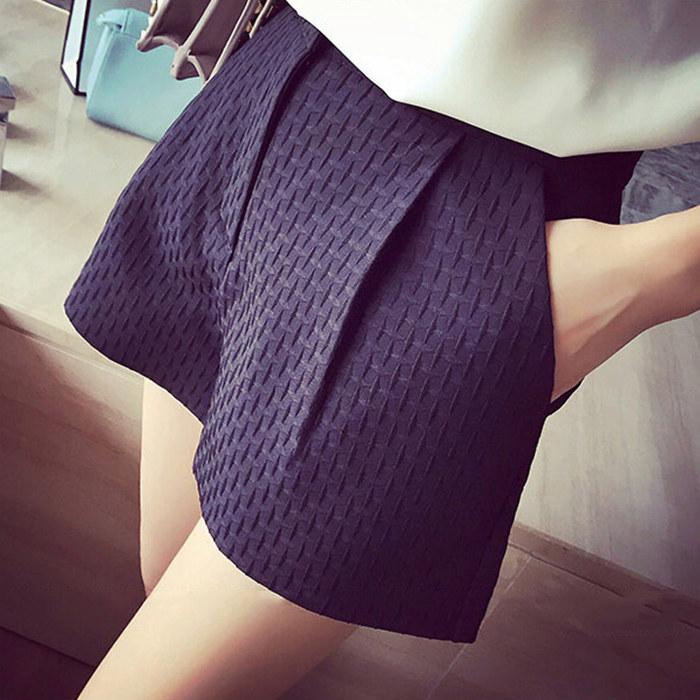 2019春夏新款高腰阔腿短裤A字短裤女休闲短裤显瘦韩版大码热裤