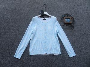 欧洲站意大利制TWIN-SET抽像风格纹理图案时尚亲肤好品质针织开衫