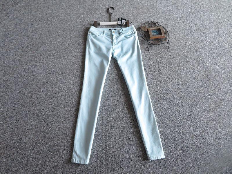 欧洲站 意大利制JUSTCAVALLI青冰淇淋色好品质舒适感牛仔裤