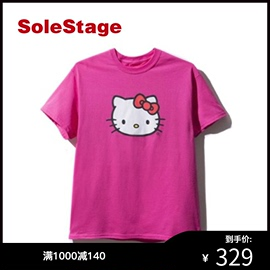 ASSC Hello Kitty 联名短袖T恤少女粉色学生ins潮流打底衫ASST313