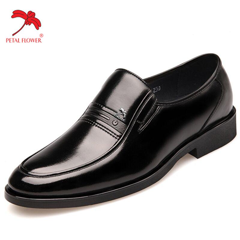秋季正品真皮正装商务休闲牛皮鞋加绒保暖中年男鞋爸爸大码45-48