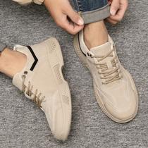 男鞋冬季低帮运动老爹鞋子男百搭男士韩版休闲皮鞋潮鞋工装马丁靴