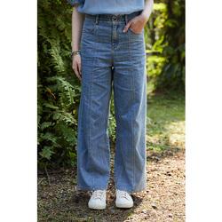 飞鸟和新酒显瘦阔腿裤牛仔裤女2021年新款夏季浅色宽松垂感直筒裤