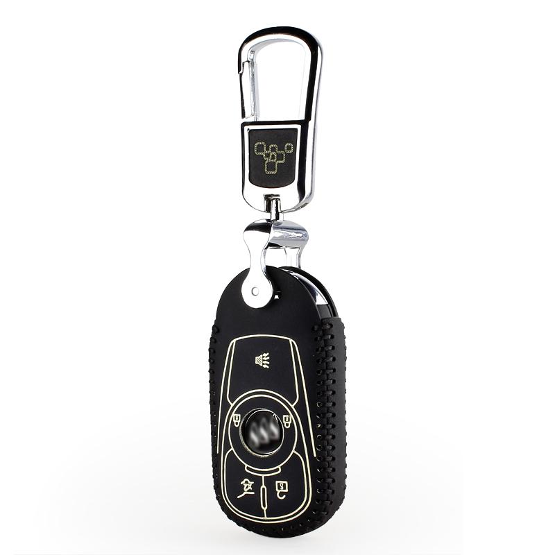 汽車鑰匙包真皮鎖匙包智能遙控器保護套 於別克昂科威鑰匙皮套