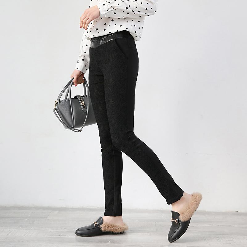 Keyuke2021 spring new Korean womens lace slim casual thin fashion casual leg long pants
