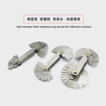 Metric British American pitch gauge threaded model threaded gauge rib sleeve Model 55 degrees + 60 degrees