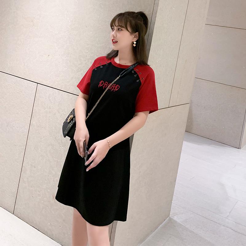 慕翎大码女装夏装2020年新款韩版宽松连衣裙胖妹妹mm春装显瘦裙子图片