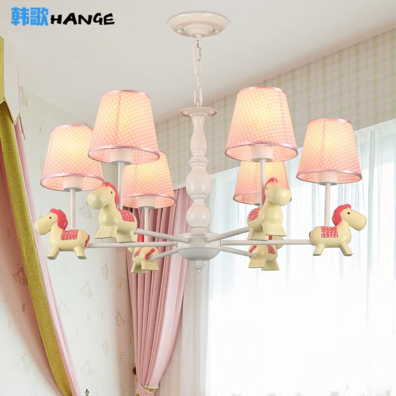 欧式吊灯儿童房卧室吊灯创意卡通灯男孩女孩房卧室灯简约现代灯具