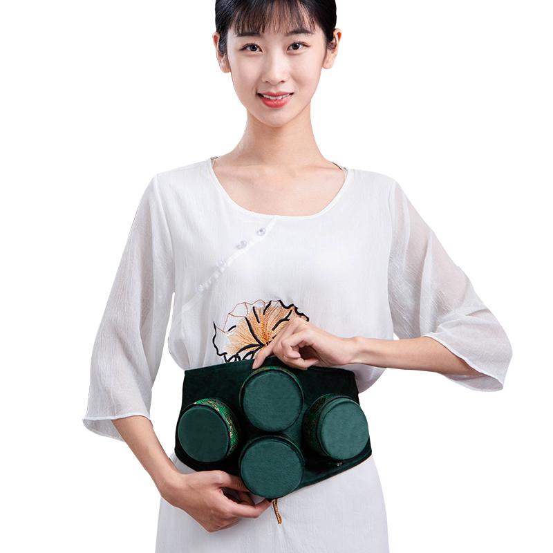 艾灸盒随身灸家用全身宫寒熏蒸仪器祛湿无烟热敷包艾草条柱纯铜罐
