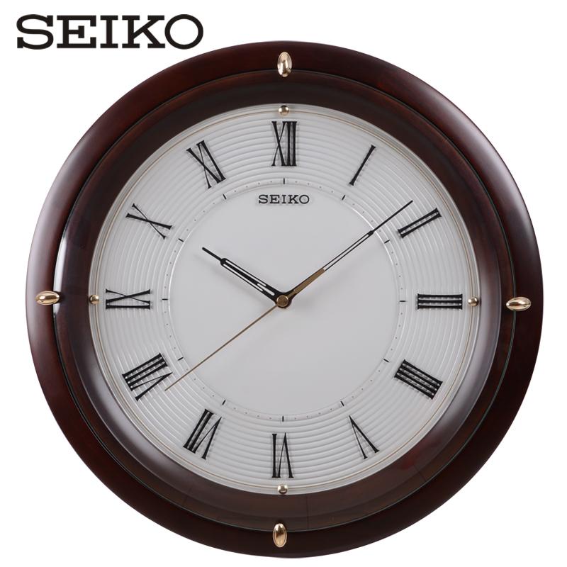 SEIKO япония seiko (компания) 14 дюймовый немой континентальный мода домой офис дерево настенные часы круглый кварц колокол вешать стол