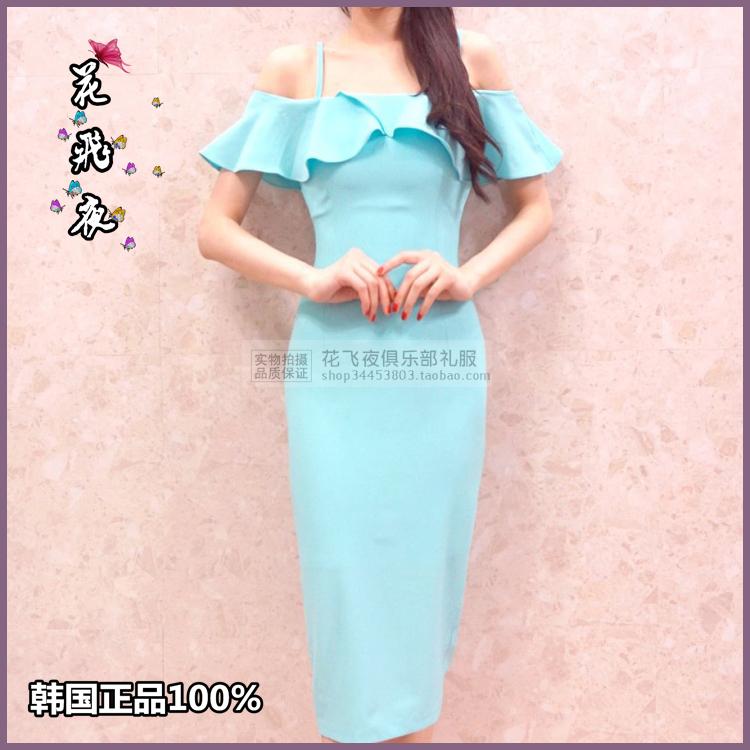 【花飞夜】韩国进口女装2018夏款连衣裙韩版修身洋装裙短礼裙RE14