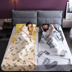 隔脏睡袋旅行床单成人大人酒店纯棉便携式单人夏季四季通用款被套