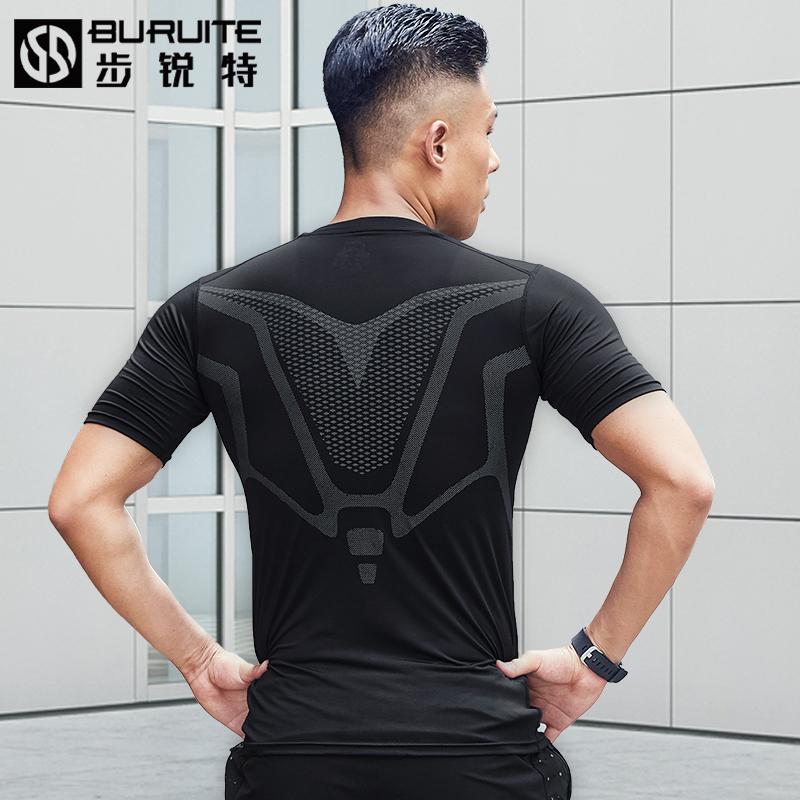 健身衣男短袖速干衣紧身衣高弹背心夏季跑步运动T恤篮球训练上衣