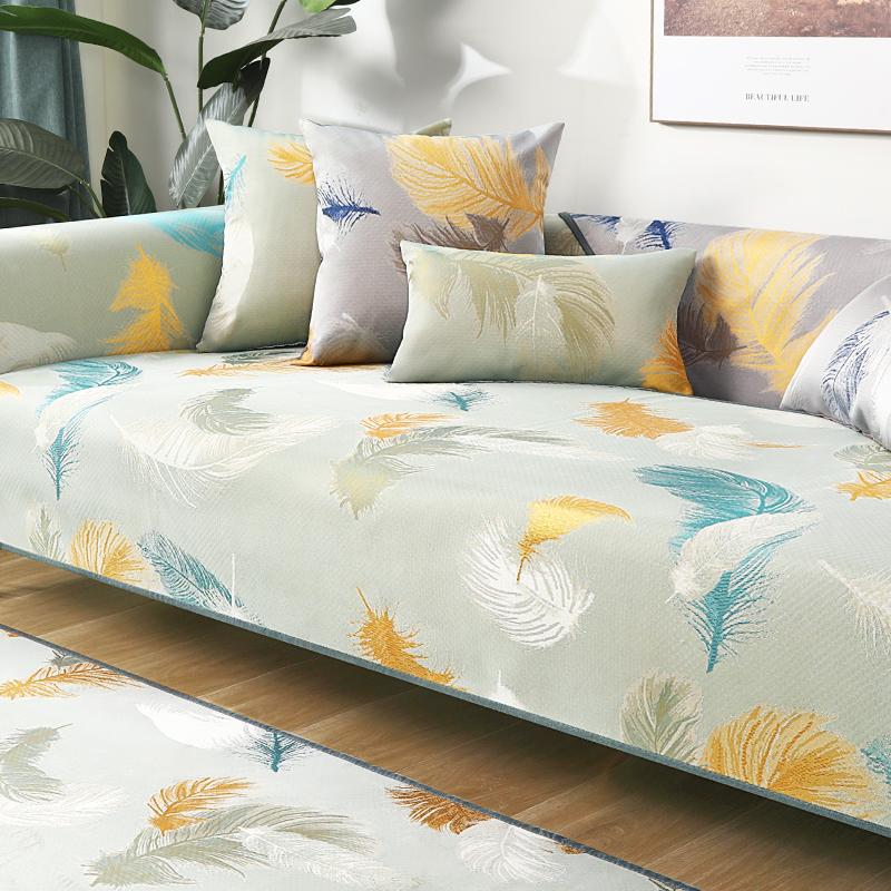 沙发凉席垫夏季夏天款冰丝沙发凉垫套罩全包万能套通用防滑盖布巾