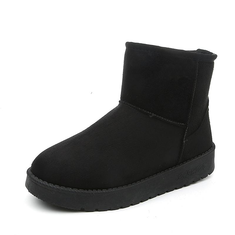 短筒加絨學生情侶平底保暖雪地靴
