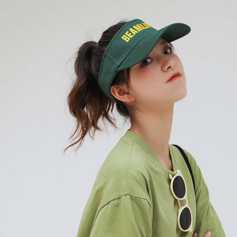 Sunshade and sunscreen no top duck tongue HAT GIRLS Korean embroidery ins fashion lovers sports mens baseball cap in summer