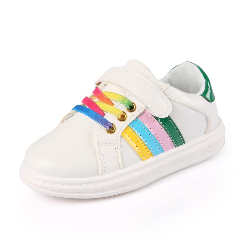 春秋款童鞋女童 鞋兒童小白鞋小學生旅遊鞋中大童男童 板鞋