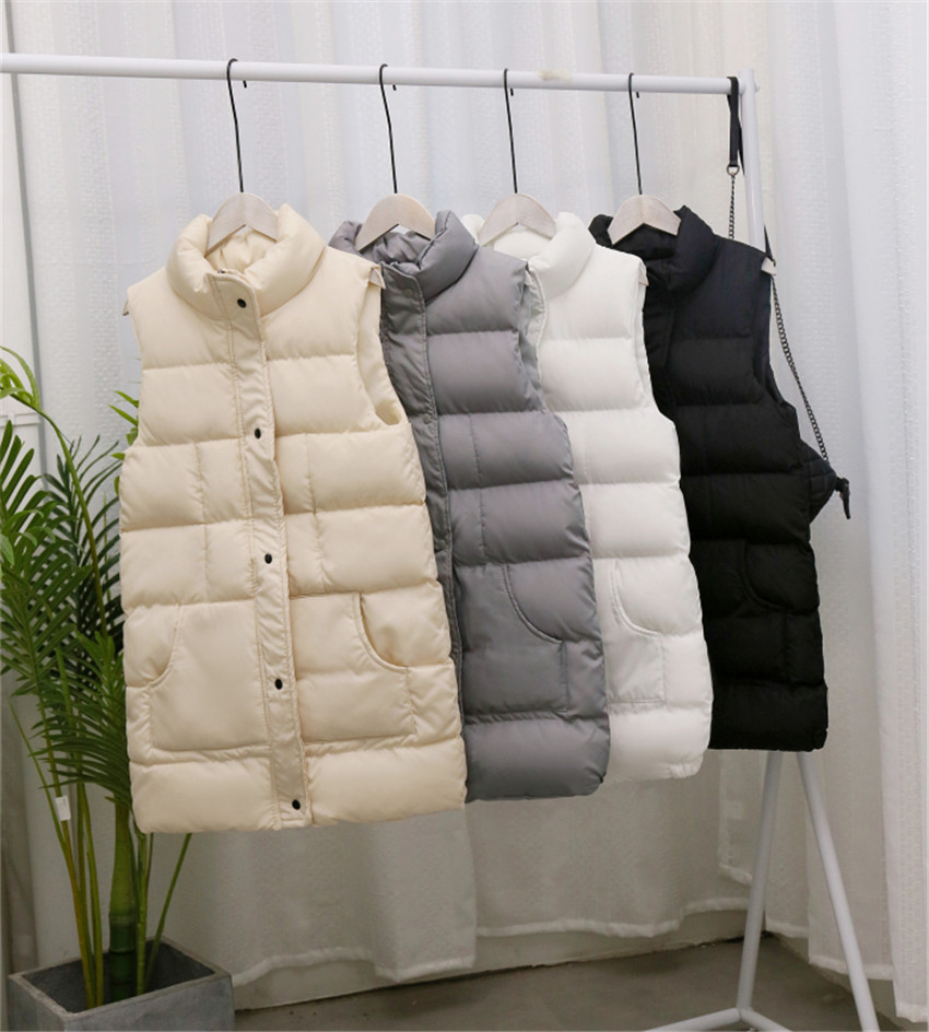 2020 new autumn and winter Korean down Cotton Jacket Vest womens medium and long bread Jacket Large womens Cotton Jacket Vest