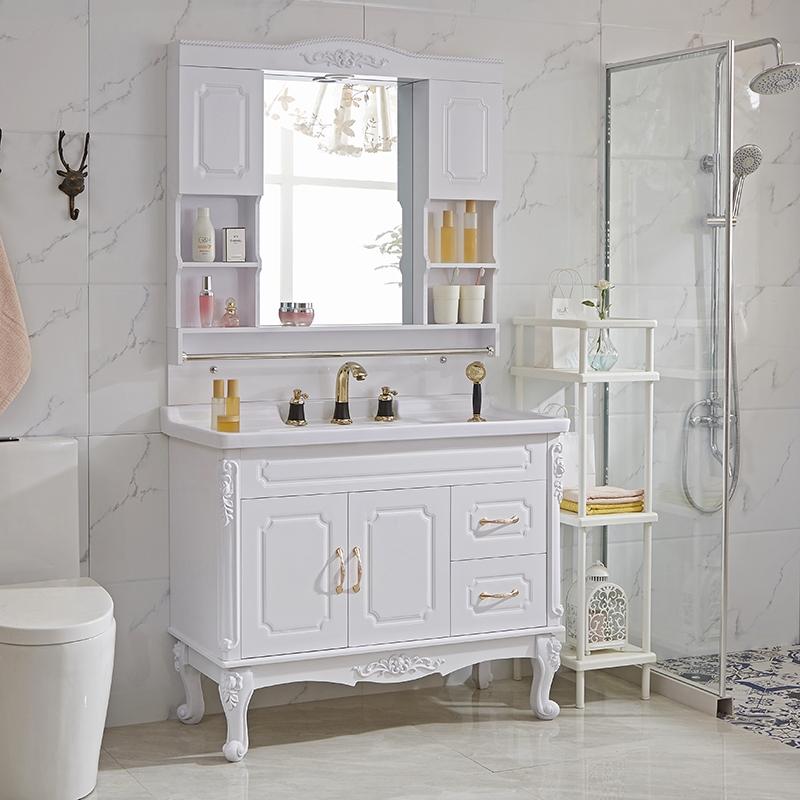 11月30日最新优惠卫浴欧式pvc浴室柜组合卫生间落地式洗手盆洗脸池小户型洗漱台盆