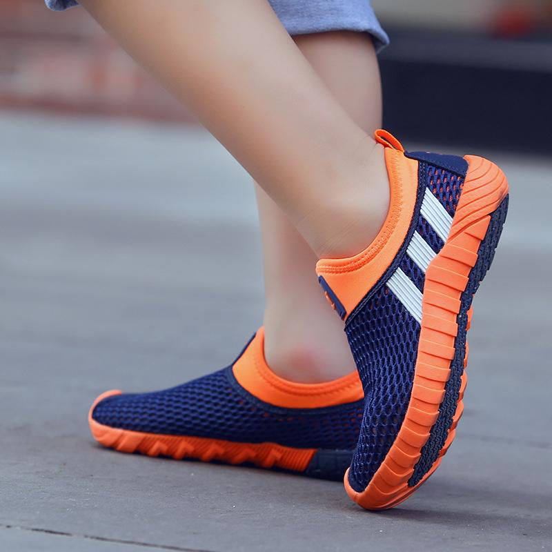 2018春季新款童鞋镂空男女童跑步鞋休闲运动鞋透气学生中大童单鞋