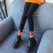 女童打底裤加绒2020新款女孩加厚长裤外穿洋气秋冬儿童黑色潮裤子