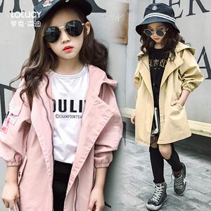 女孩子韩版风衣小学生2020小孩女童儿童洋气春秋新款中大童潮外套