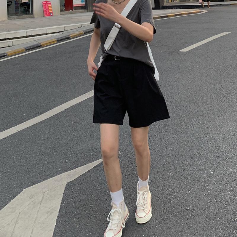 西装女夏复古高腰宽松a字潮阔腿裤券后38.98元