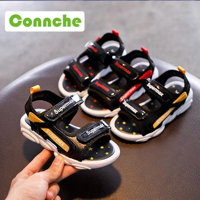 男童凉鞋2019新款韩版小熊鞋夏季潮鞋小男孩软底中大童儿童沙滩鞋
