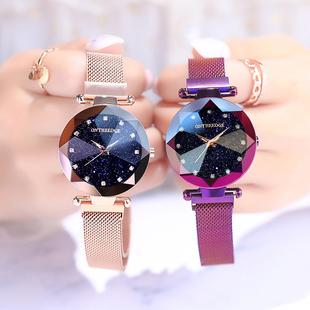 网红手表女学生星空韩版简约时尚潮流防水抖音同款2019新款手表