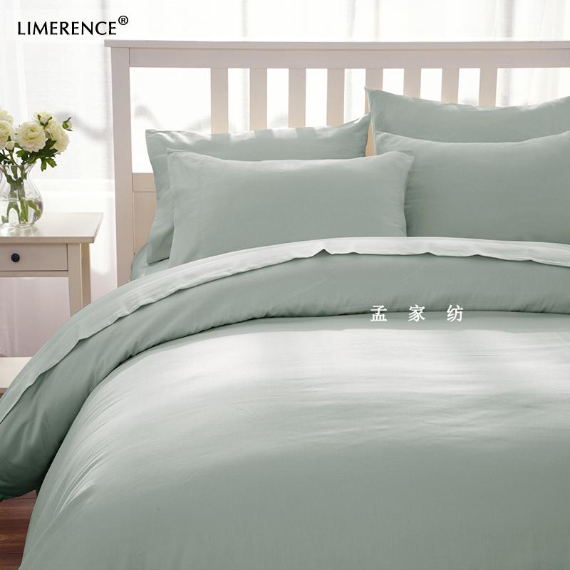 可定制纯棉被套简约欧式高纱织高支高密A类印染婴幼儿裸睡