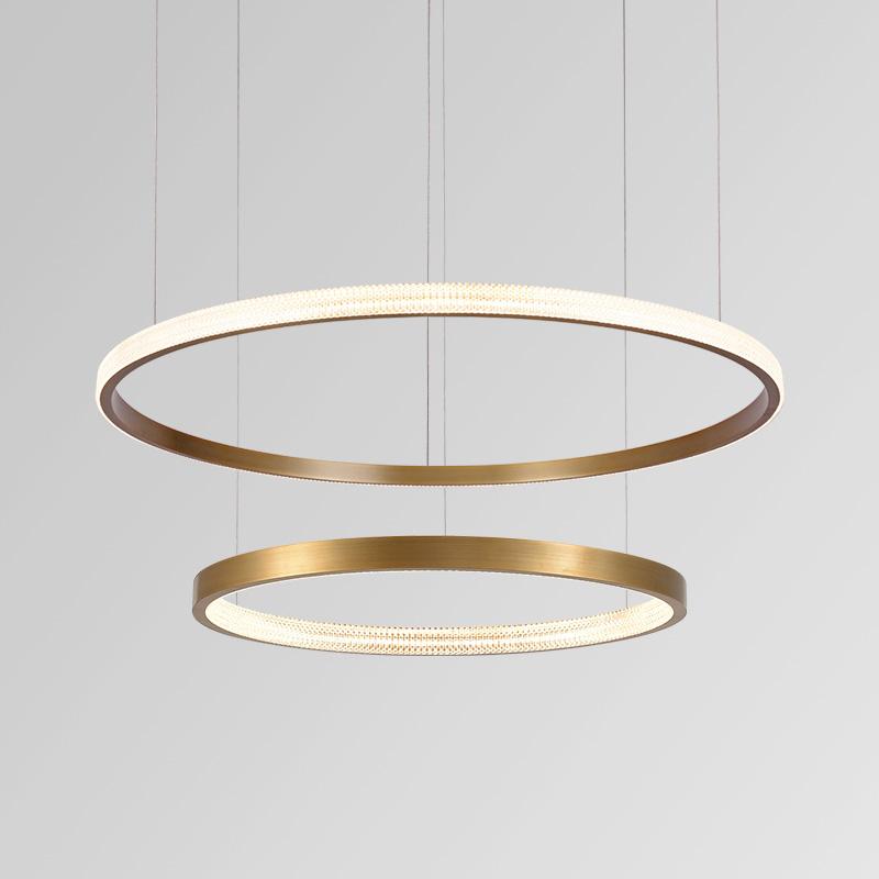 现代简约时尚客厅吊灯个性圆圈圆环形吊灯艺术大气极简LED圈圈灯