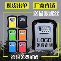 装修钥匙密码盒工地猫眼钥匙盒民宿大门壁挂式收纳密码锁金属防盗