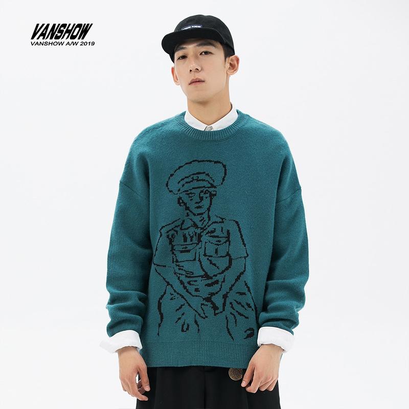 2020 winter new knitwear mens Korean version mens coat figure design fashion brand couples T-shirt
