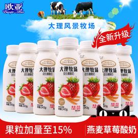 欧亚大理牧场低温果粒酸奶燕麦草莓酸牛奶 243g*12瓶抖音乳制品图片