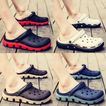 Men's Slippers Men's Summer Outdoor Hole Shoes Trend Korean Version 2019 New Personality Beach Shoes Men's Sandals