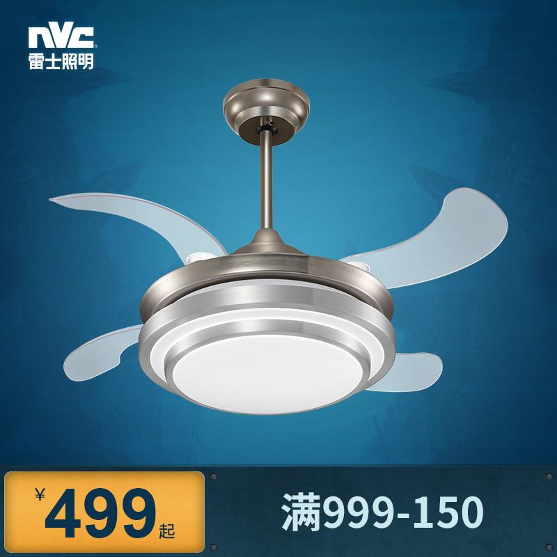 遥控LED雷士照明隐形风扇灯吊扇灯餐厅现代简约饭厅客厅卧室家用