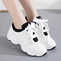 跑步鞋学生休闲鞋纯色老爹鞋女ins秋季韩版百搭低帮运动鞋女2018