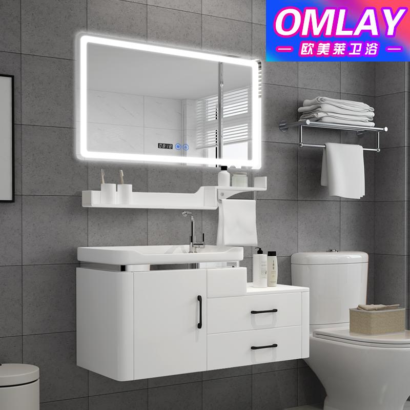 10月21日最新优惠PVC浴室柜组合洗手池台盆洗脸盆卫生间现代简约落地式卫浴洗漱台