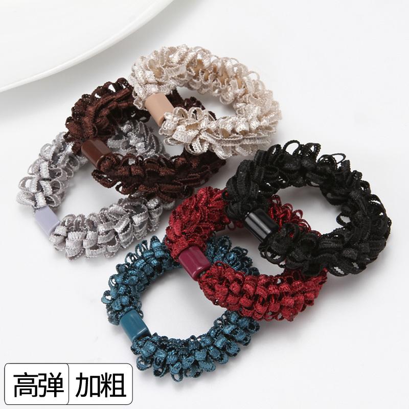 韩版加粗扎头发橡皮筋胶圈发圈不伤发绳简约ins网红头绳女高弹力