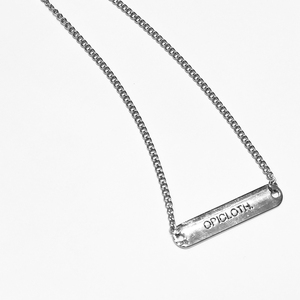 OPICLOTH(OPIC)19SS LETTERING NECKLACE 品牌刻印项链