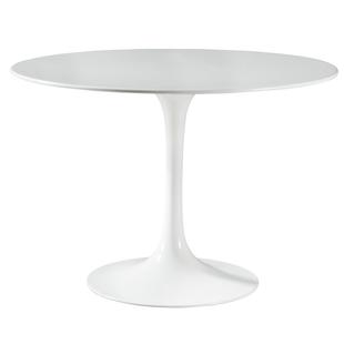 北歐設計師桌子洽談桌家用小户型現代簡約圓桌玻璃鋼圓形實木餐桌