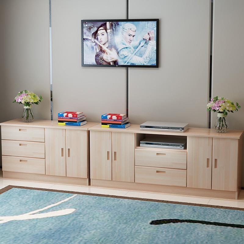 定制实木电视柜现代简约客厅松木矮地柜边柜储物柜卧室柜子包邮
