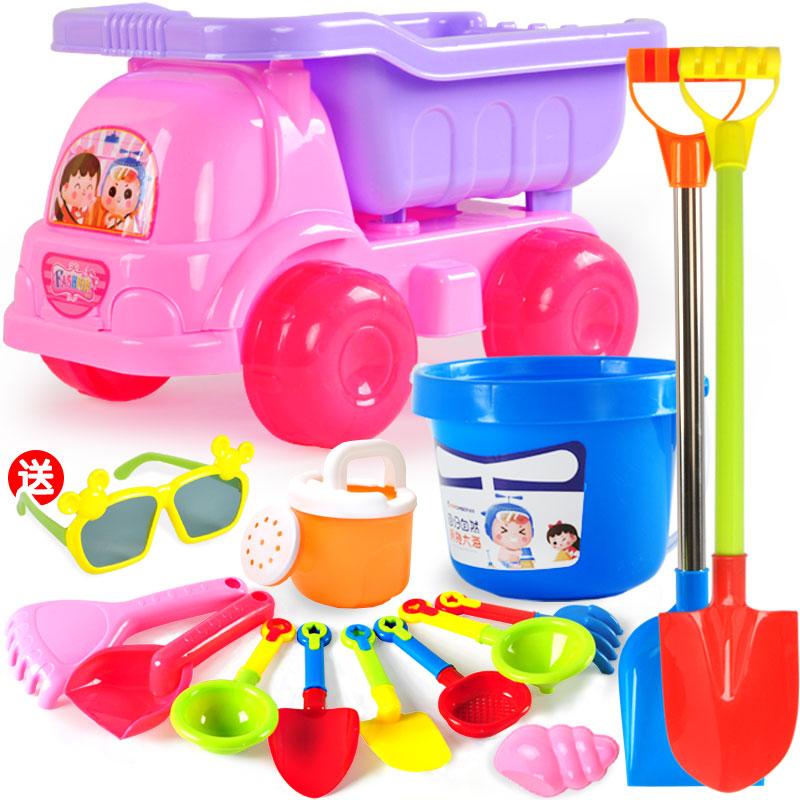 建雄儿童沙滩玩具车套装挖沙铲子桶宝宝玩沙子决明子工具男孩女孩券后13.80元