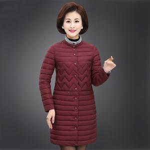 中老年女裝冬裝新款棉服外套40-50中中年女士媽媽裝中長款棉衣