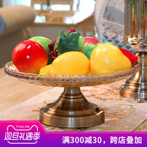 European glass fruit tray living room coffee table Family Fruit Basket American home decoration modern Simple decoration