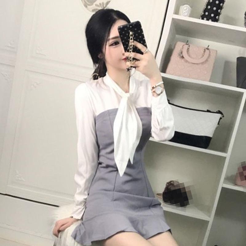 清纯甜美秋季yy网络直播韩版女生 女装主播上镜衣服装包臀连衣裙