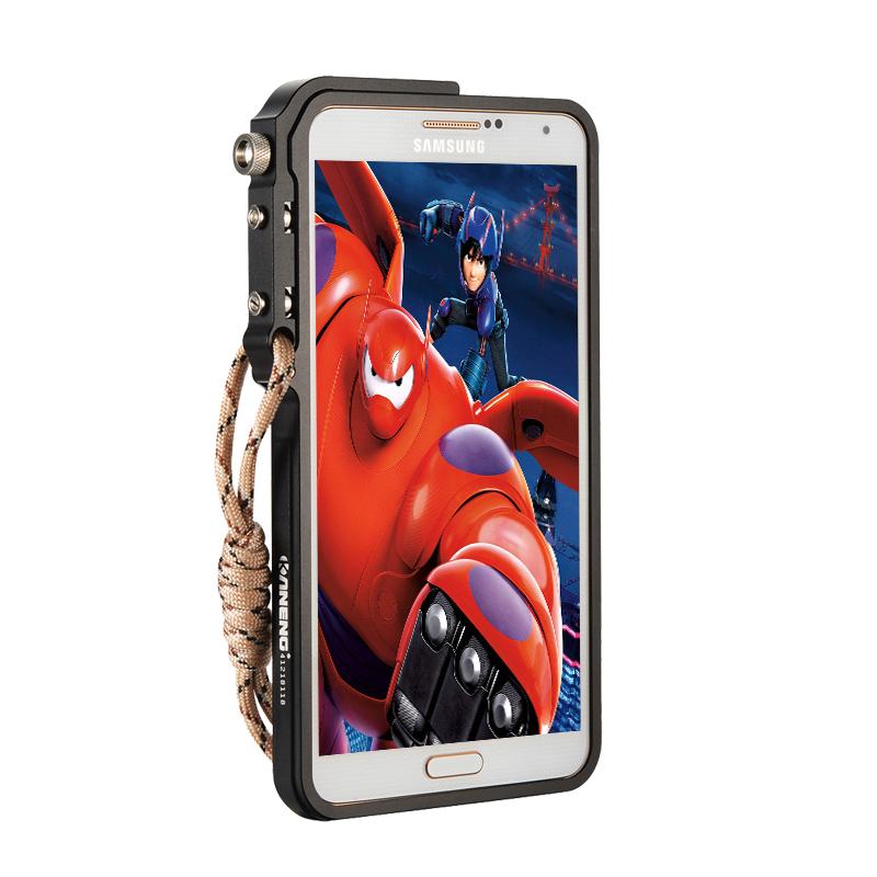 KANENG Mechanical Arm Trigger Aluminum Bumper Metal Frame Case Cover for Samsung Galaxy Note 3 N9000
