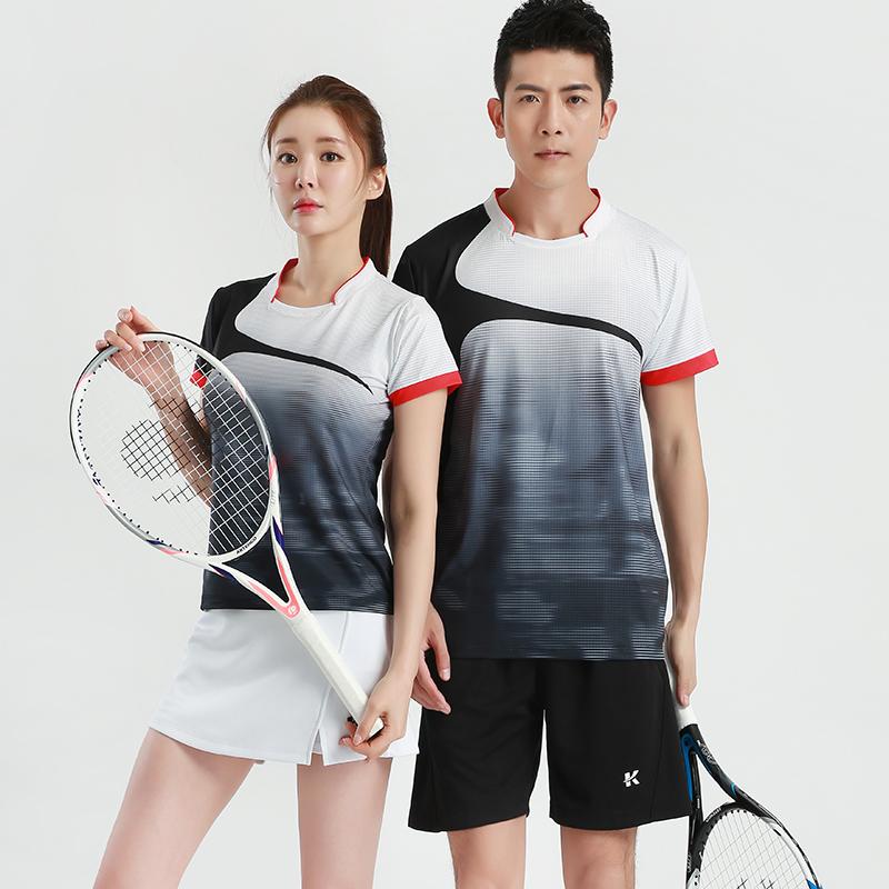 2020夏新款羽毛球服套装男女短袖速干透气裙裤网球服气排球运动服