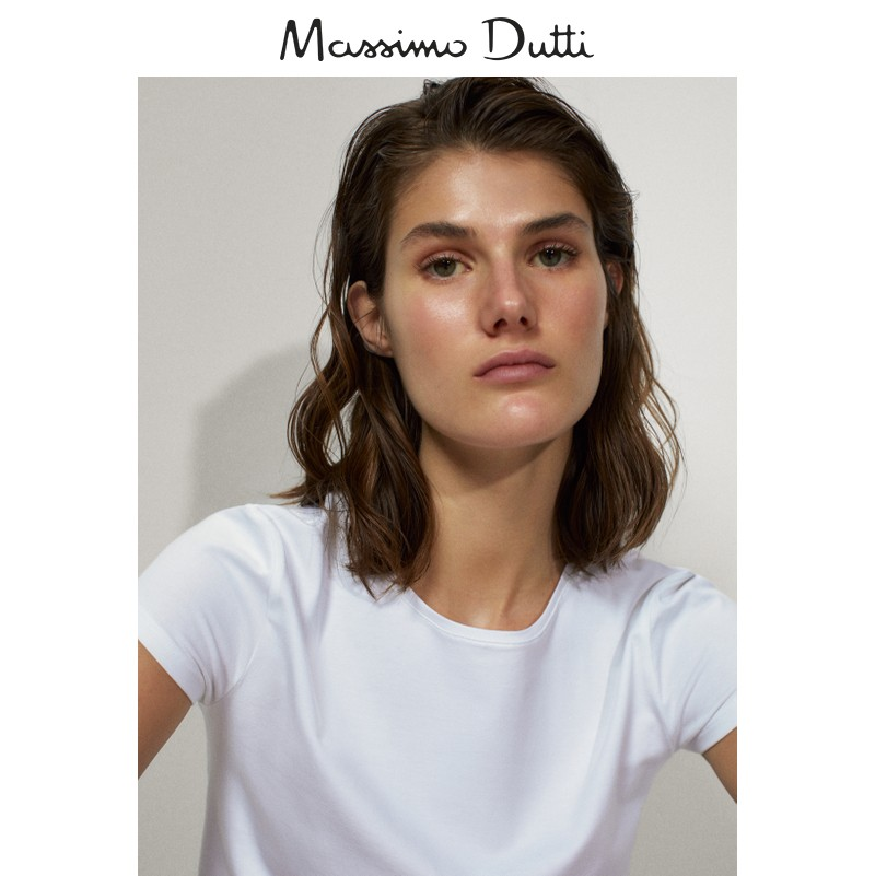 Massimo Dutti women's basic cotton T-shirt 06850901250