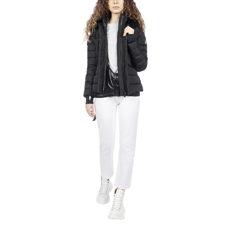 正品Moncler/蒙克莱羽绒服女新款系带束腰毛领连帽保暖外套女装KX